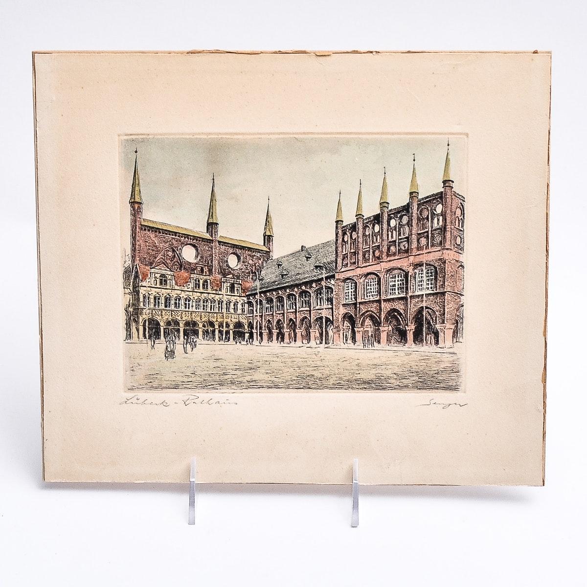 Romanian Colored Wood Block Print