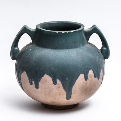 Roseville Pottery Double Handled Carnelian I Vase