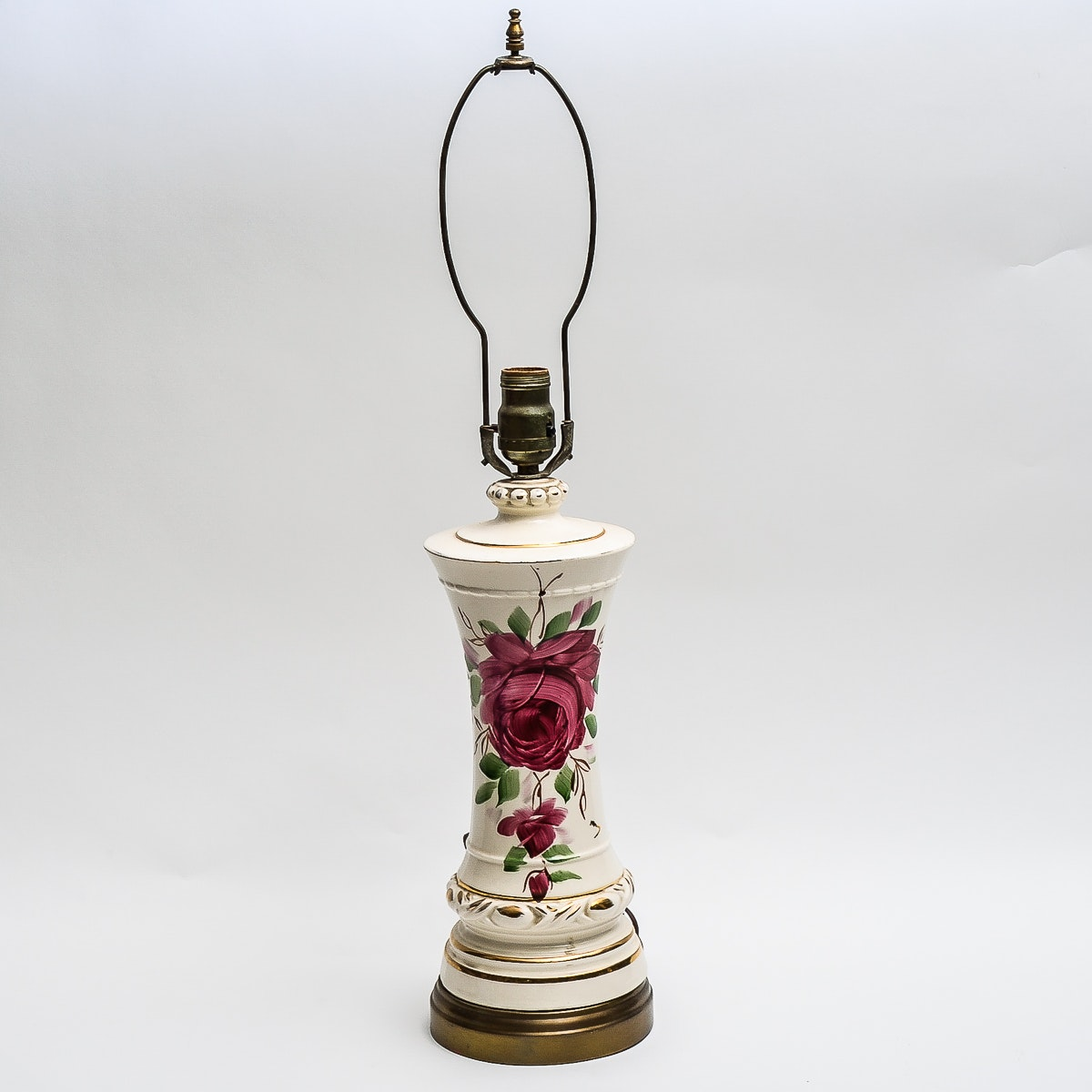Vintage Hand Painted Porcelain Tale Lamp