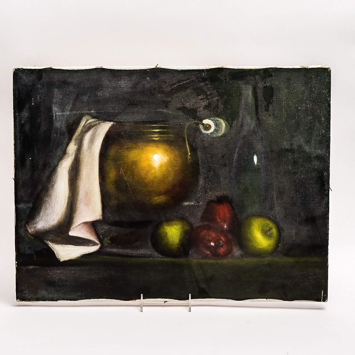 Still Life Oil Painting on Wrapped Canvas