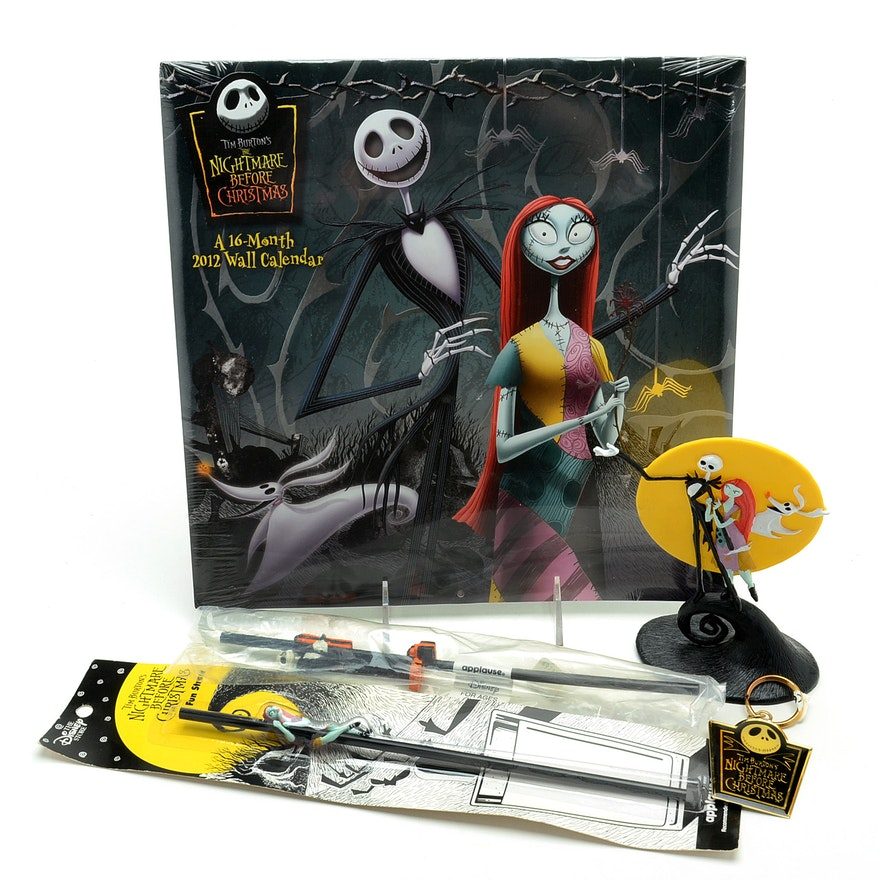 tim burtons nightmare before christmas collectibles including a 2012 calendar