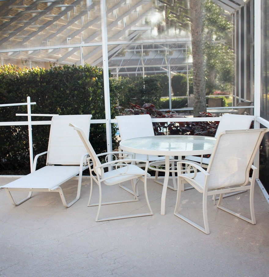 Suncoast Patio Table and Chairs ... - Suncoast Patio Table And Chairs : EBTH