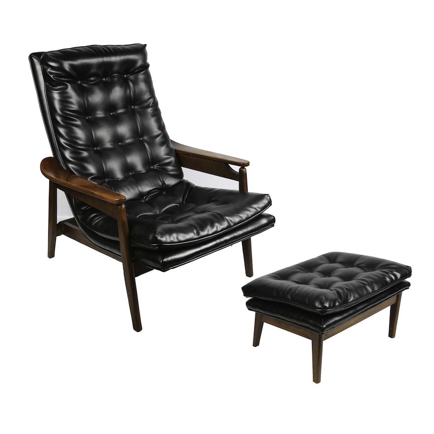Stupendous Mid Century Modern Lounge Chair And Ottoman Machost Co Dining Chair Design Ideas Machostcouk