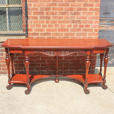 Vintage French Style Mahogany Console Table - Online Furniture Auctions Vintage Furniture Auction Antique