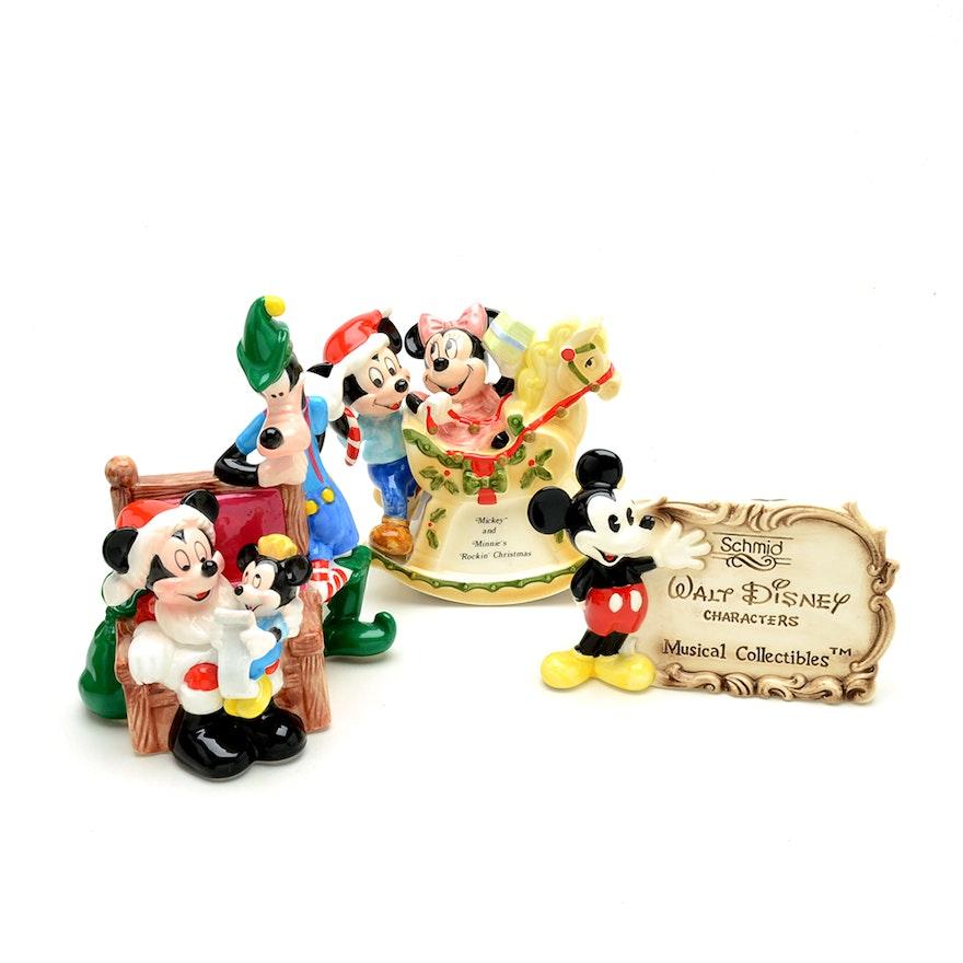 schmid disney christmas music boxes - Disney Christmas Music