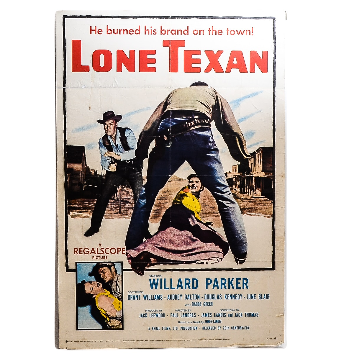 """Lone Texan"" Movie Poster"