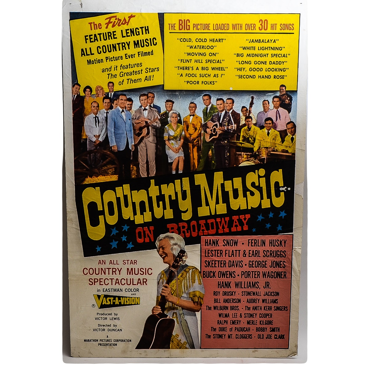 """""""Country Music on Broadway"""" Poster"""