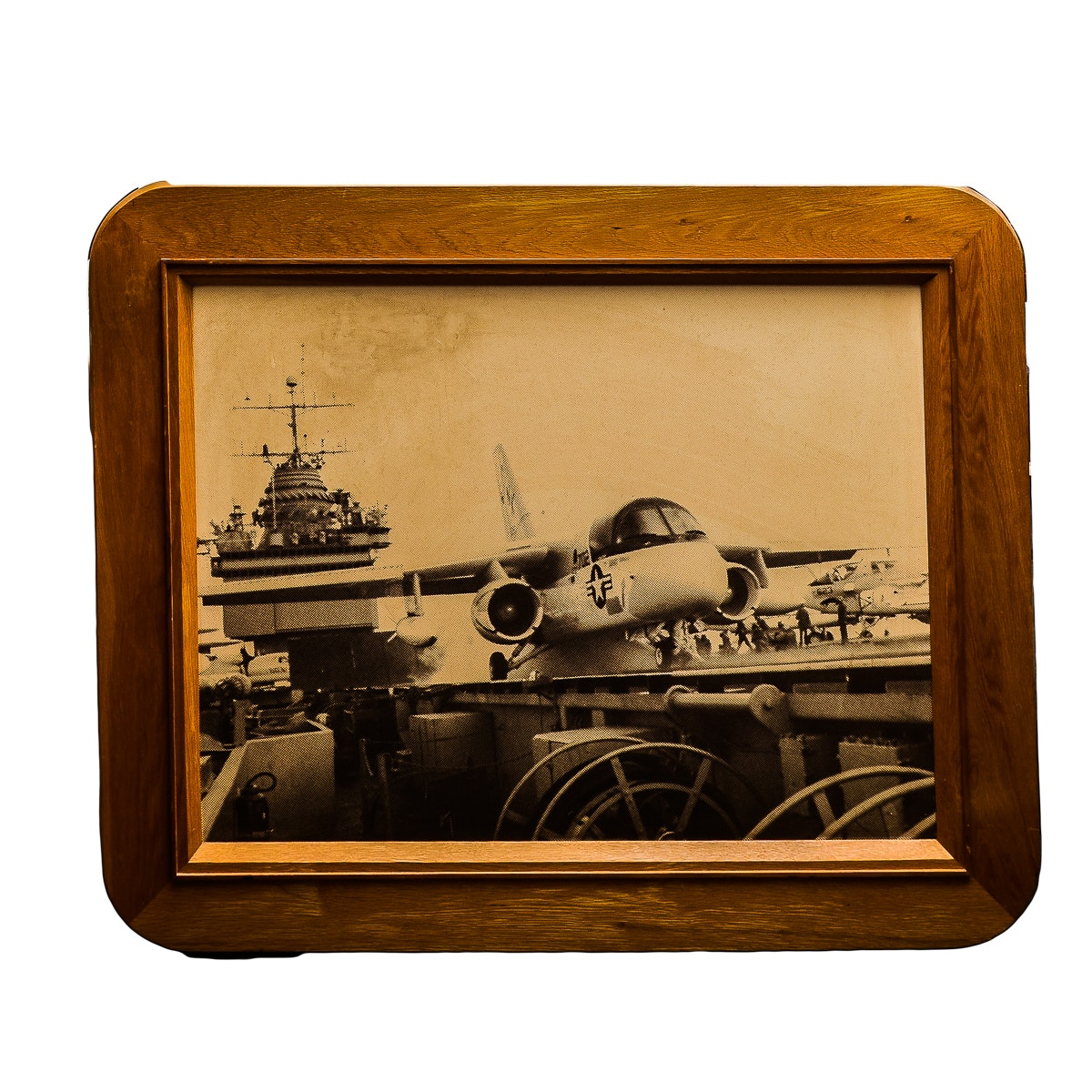Oak Framed Lockheed Lithograph Photo