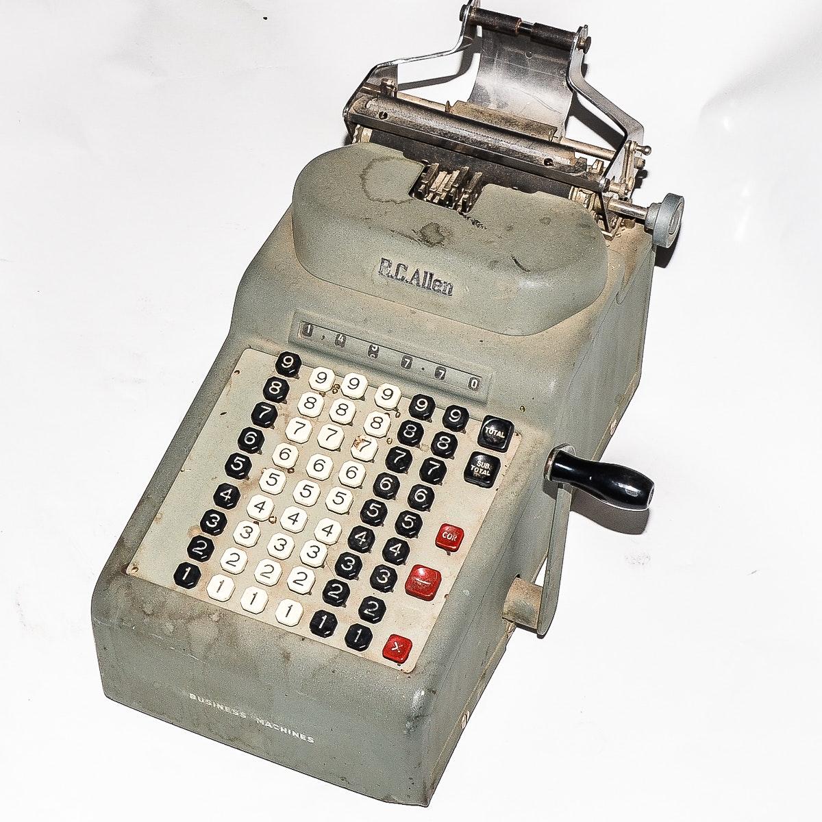 Vintage R.C. Allen Adding Machine