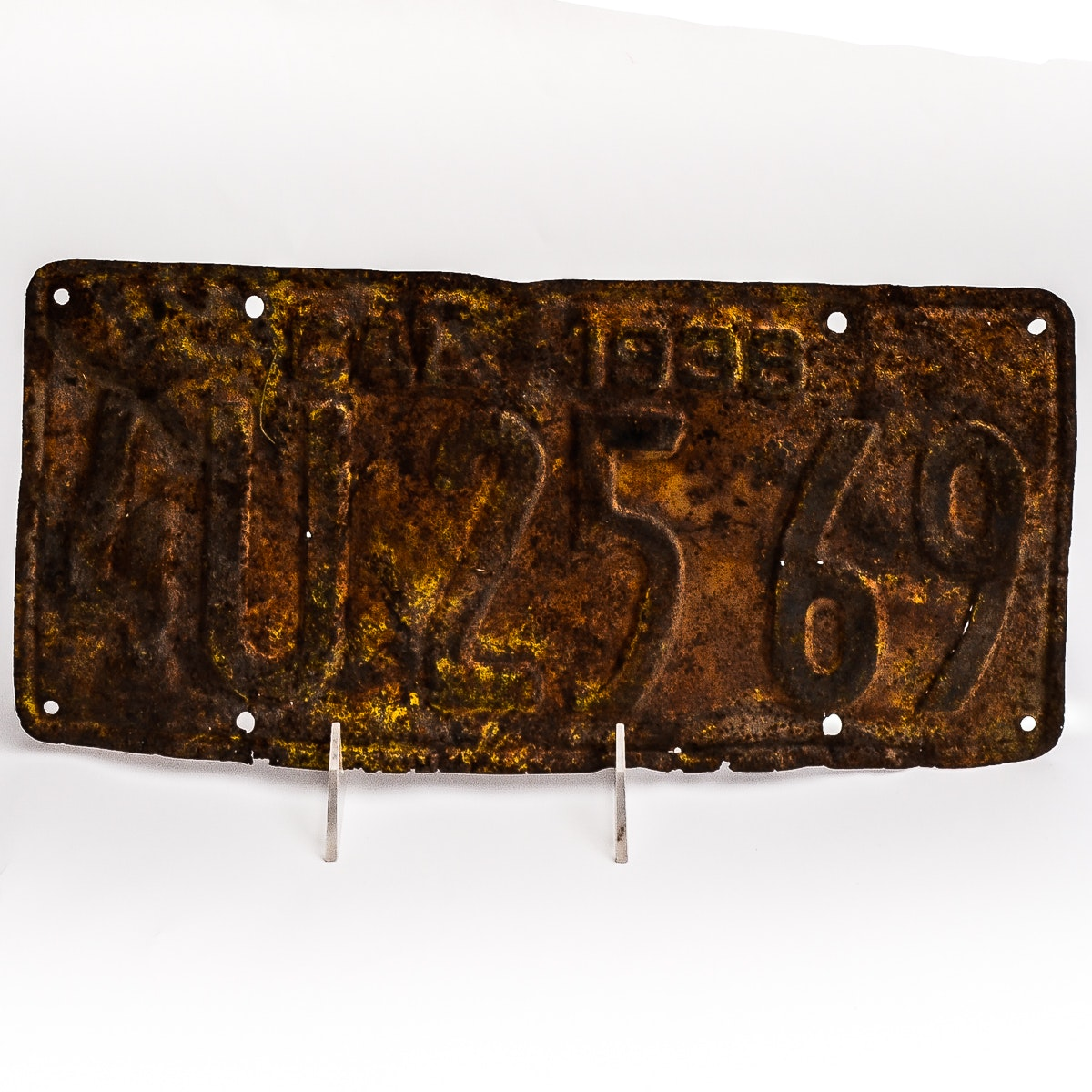 Vintage 1938 California License Plate