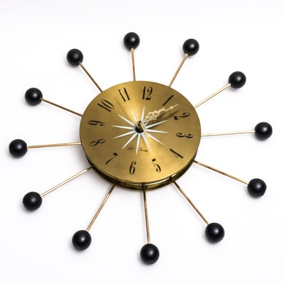 Seth Thomas Sputnik Wall Clock
