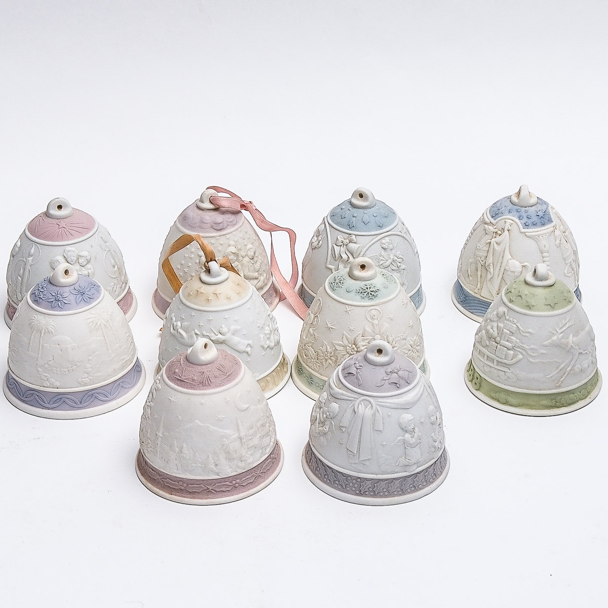 Set of Ten Lladro Christmas Bells