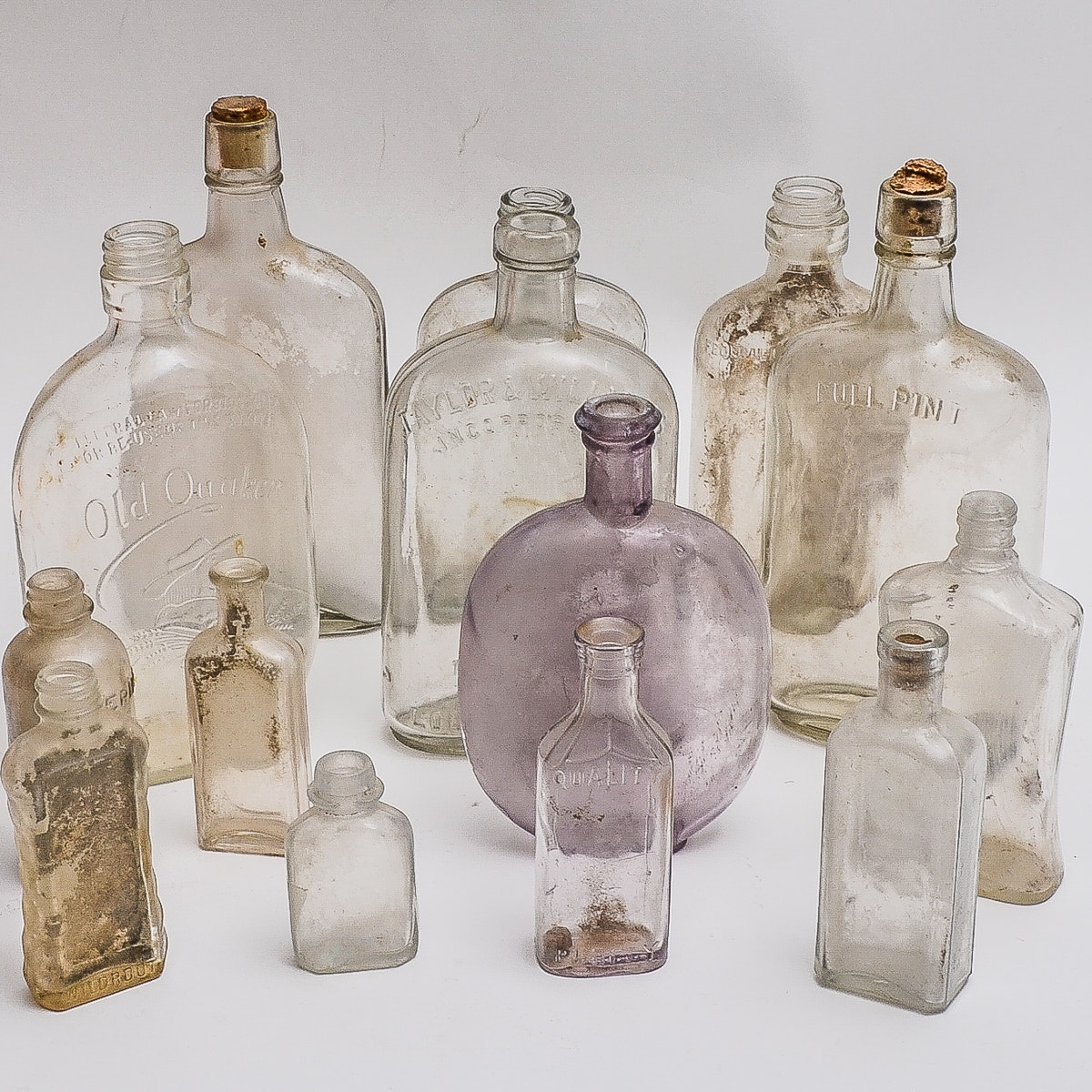 Collection of Antique Glass Bottles