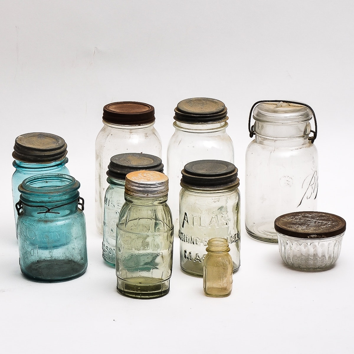 Collection of Antique Glass Jars