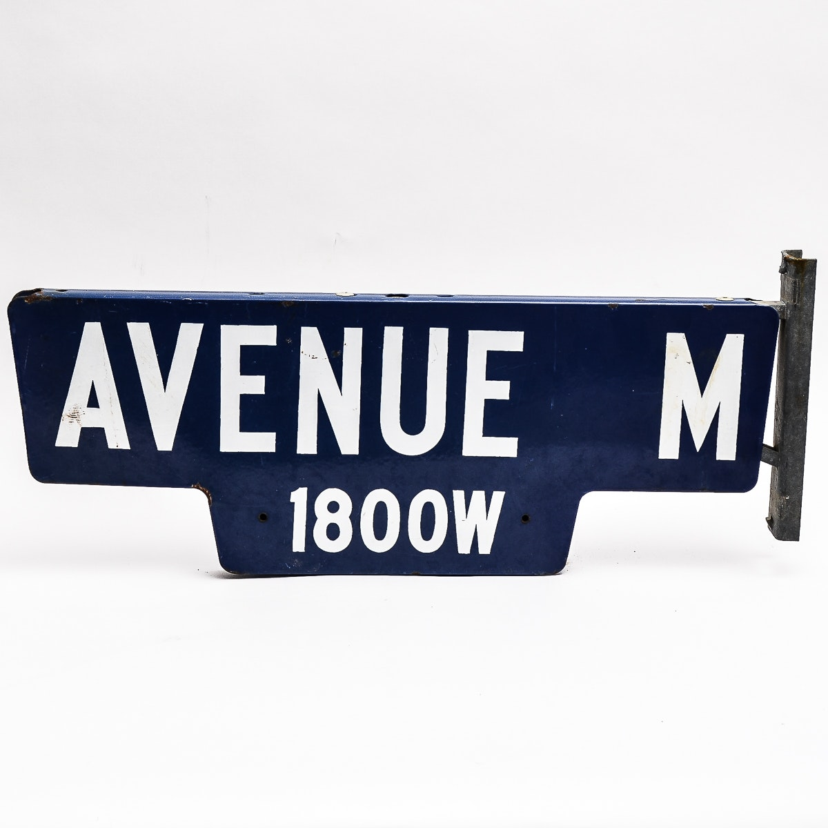 Vintage Enameled Street Sign