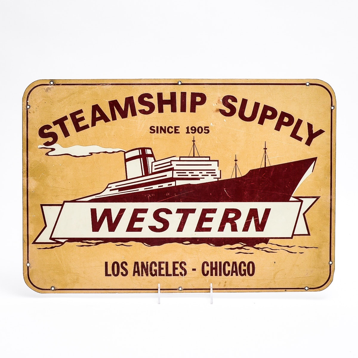 Western Steamship Supply Sign