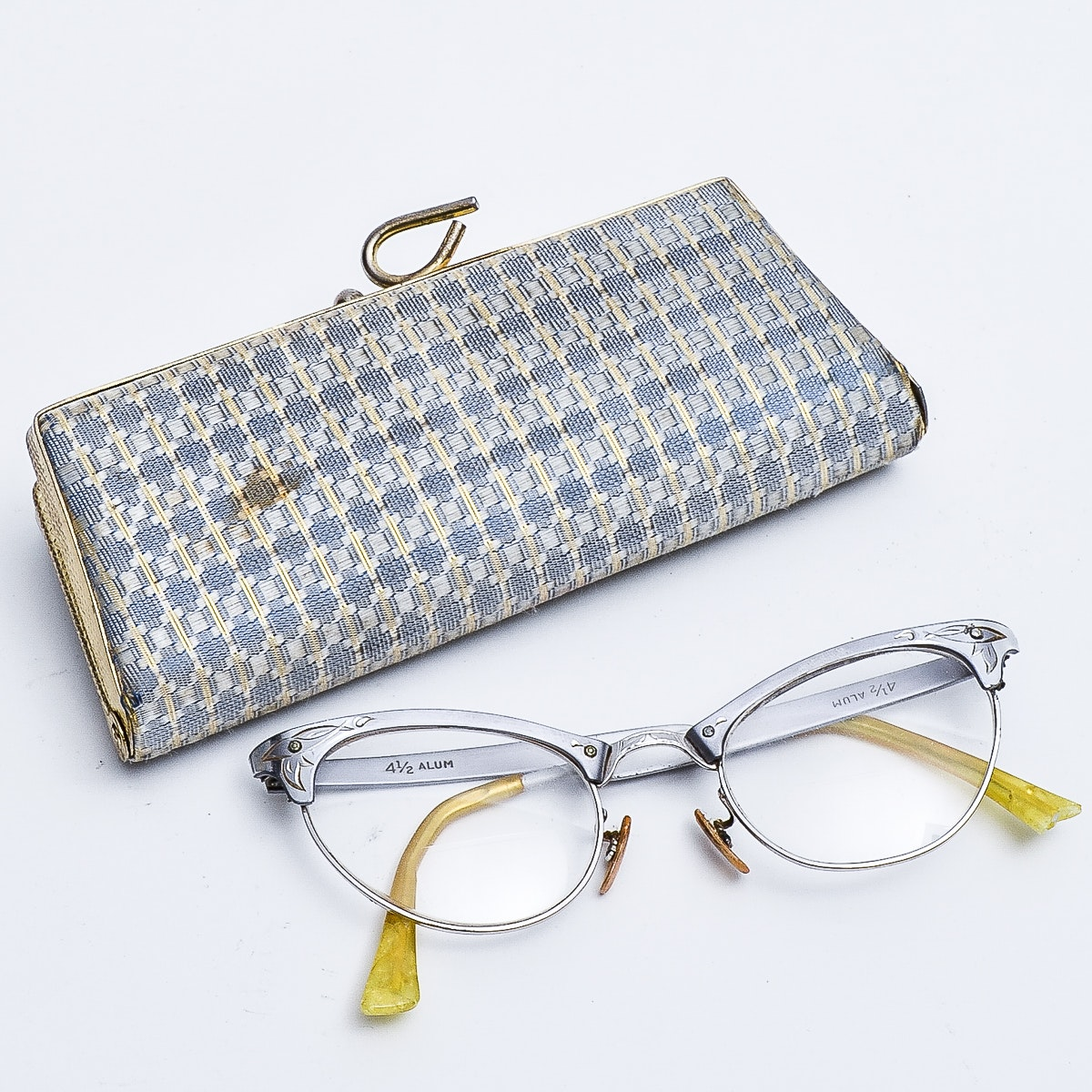 Vintage Cat Eye Glasses with Case