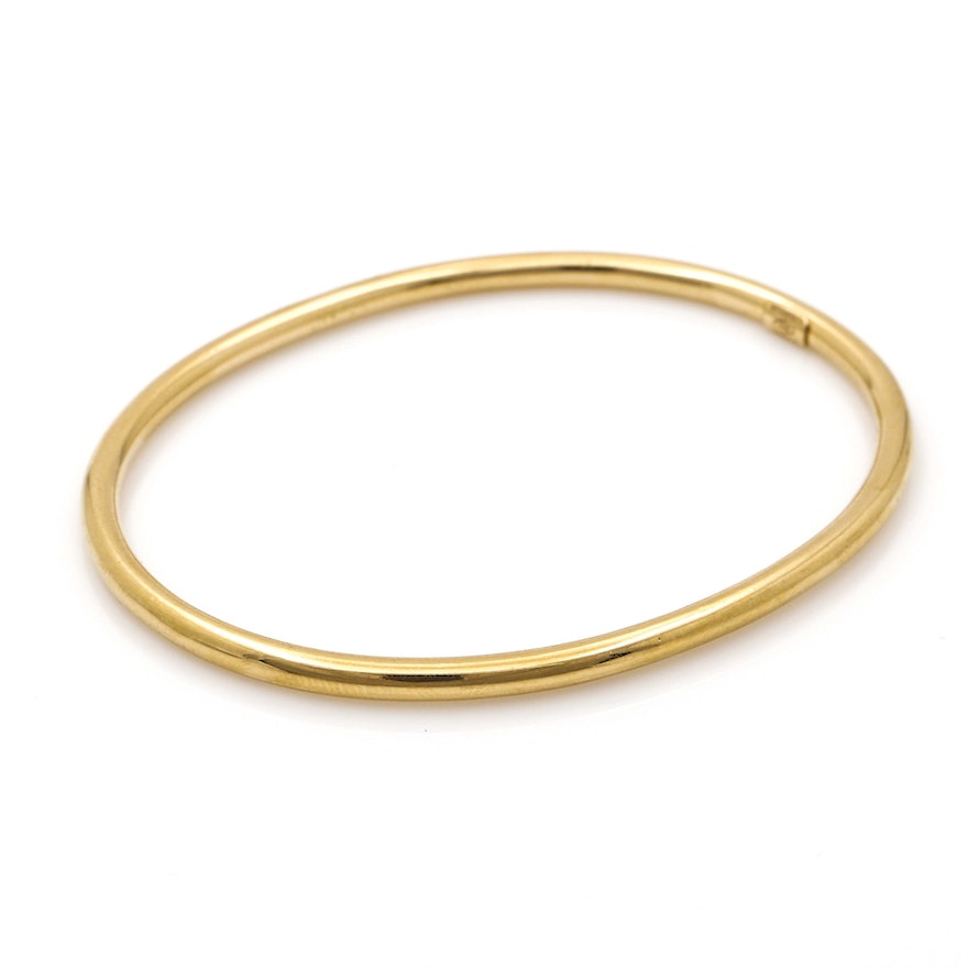 bracelet index gold bangle plated bangles plain seviljewelry
