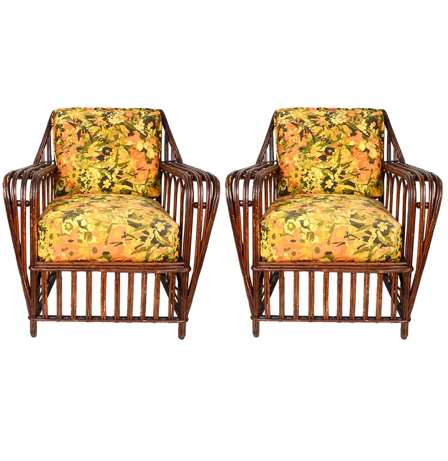 Mid 20th Century Rattan Chairs
