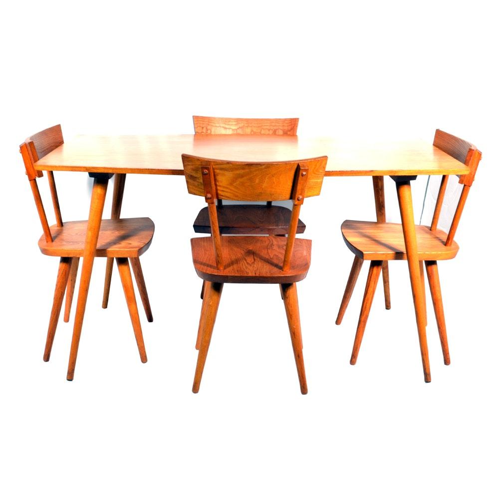 Mid Century Modern Style Wooden Dining Set