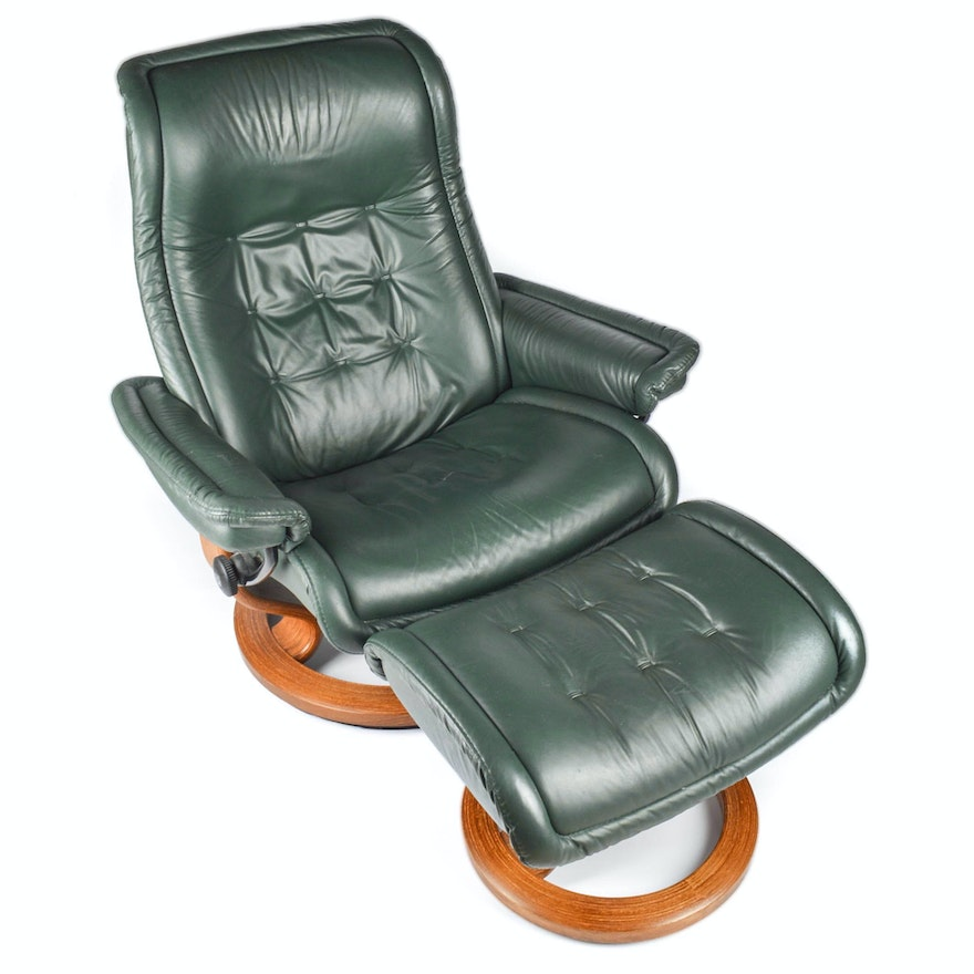 Brilliant Ekornes Stressless Leather Lounger And Ottoman Ocoug Best Dining Table And Chair Ideas Images Ocougorg