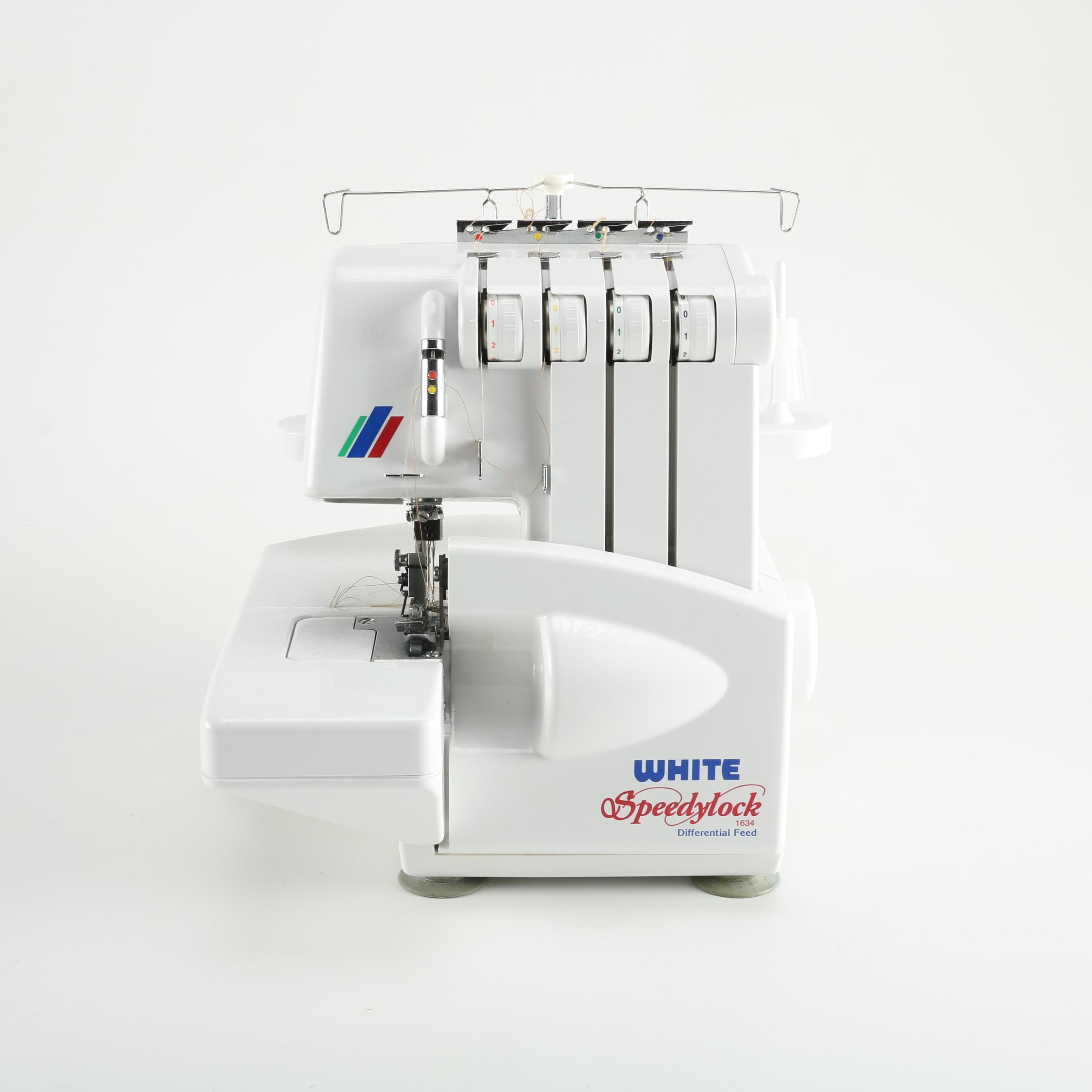 white speedylock serger sewing machine