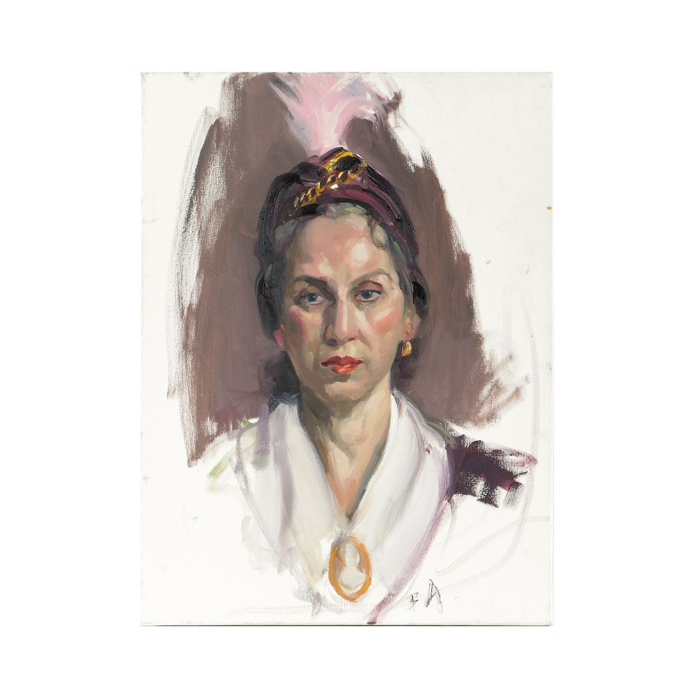 Bill Angressano Oil Painting on Canvas Portrait of a Woman