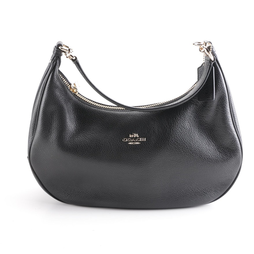 Coach Harley East West Pebbled Leather Hobo Bag   EBTH 6f7831f518ef5
