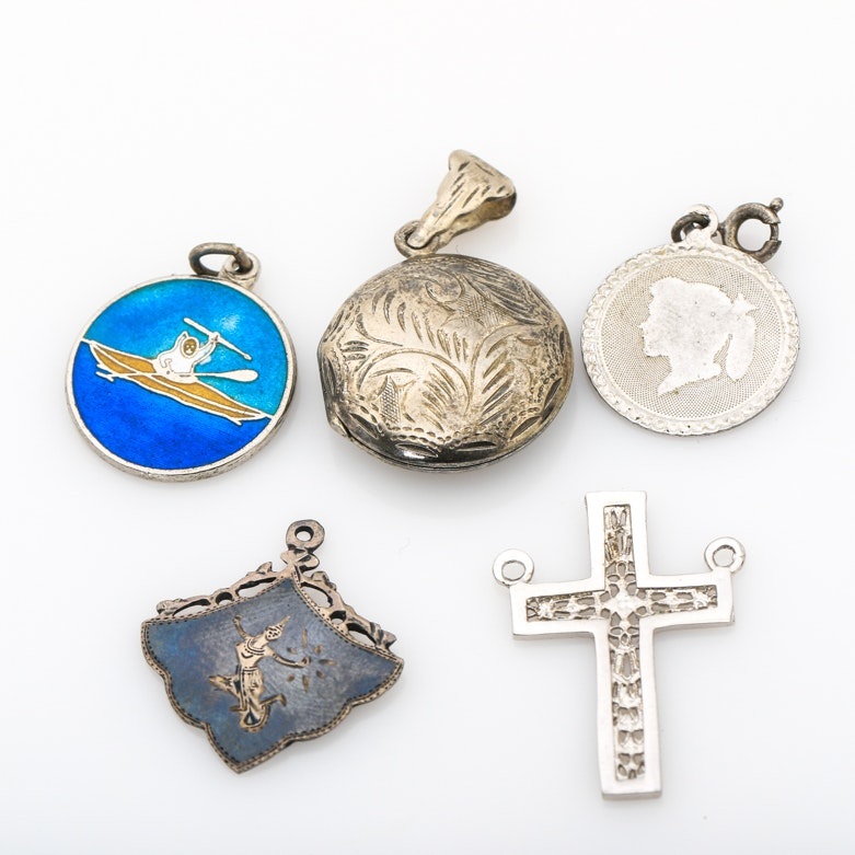 Assortment of Sterling Silver Pendants