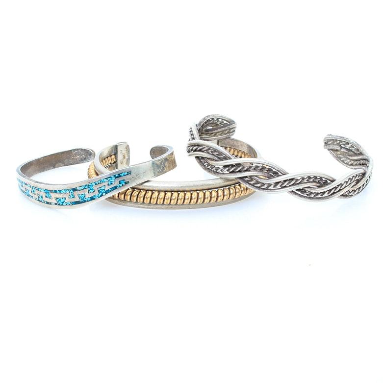 Assortment of Sterling Silver Bracelets