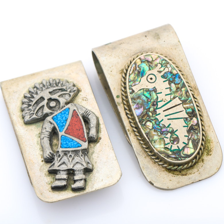 Pair of Vintage Money Clips