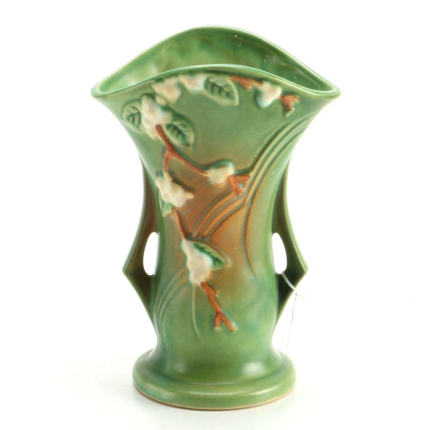 Roseville Snowberry Flared Vase Ebth