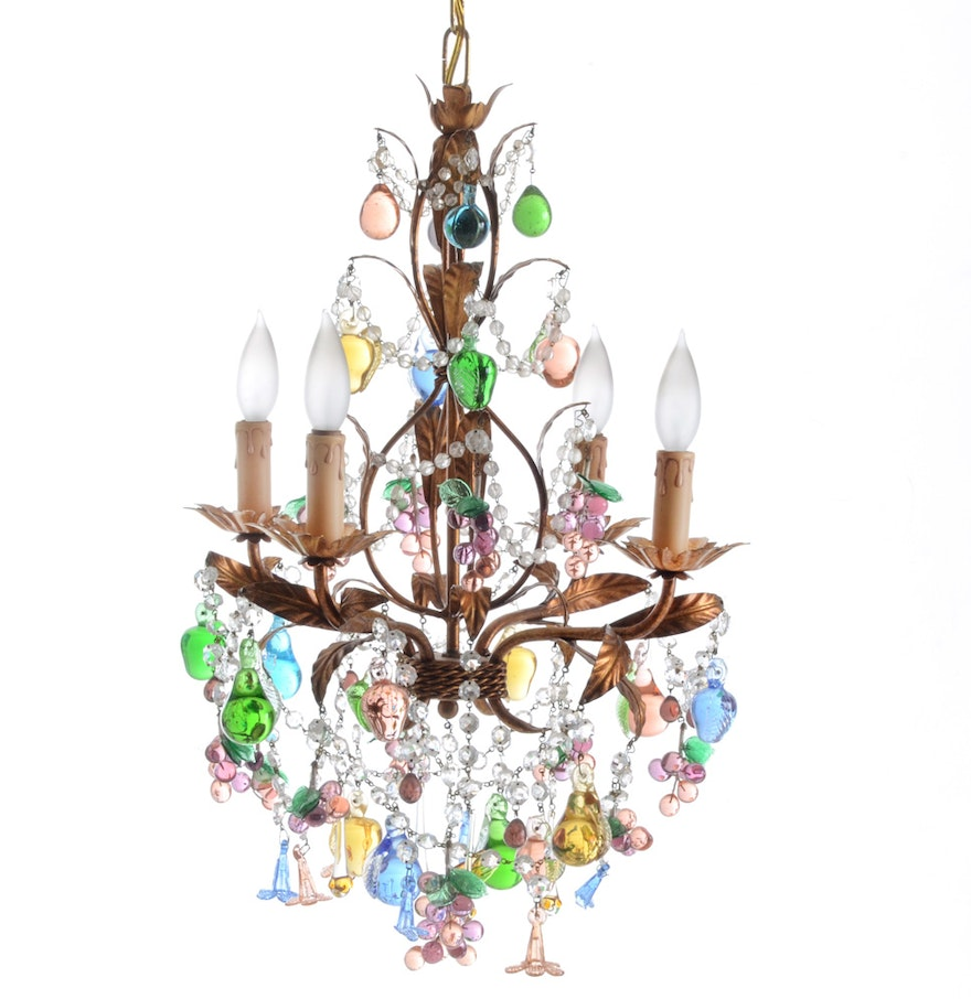 Anthropologie Venetian Glass Fruit Chandelier EBTH – Fruit Chandelier