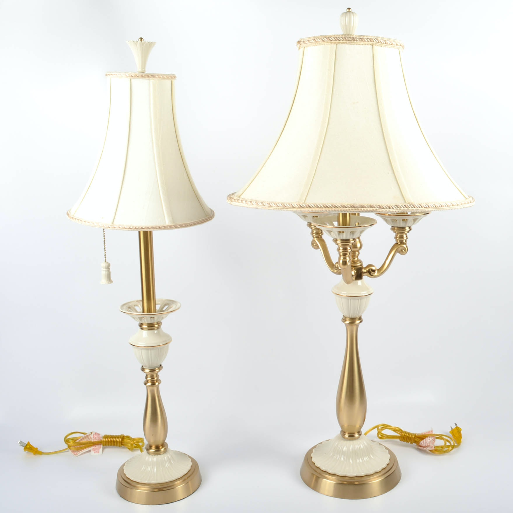 Two Lenox Quoizel Table Lamps Ebth