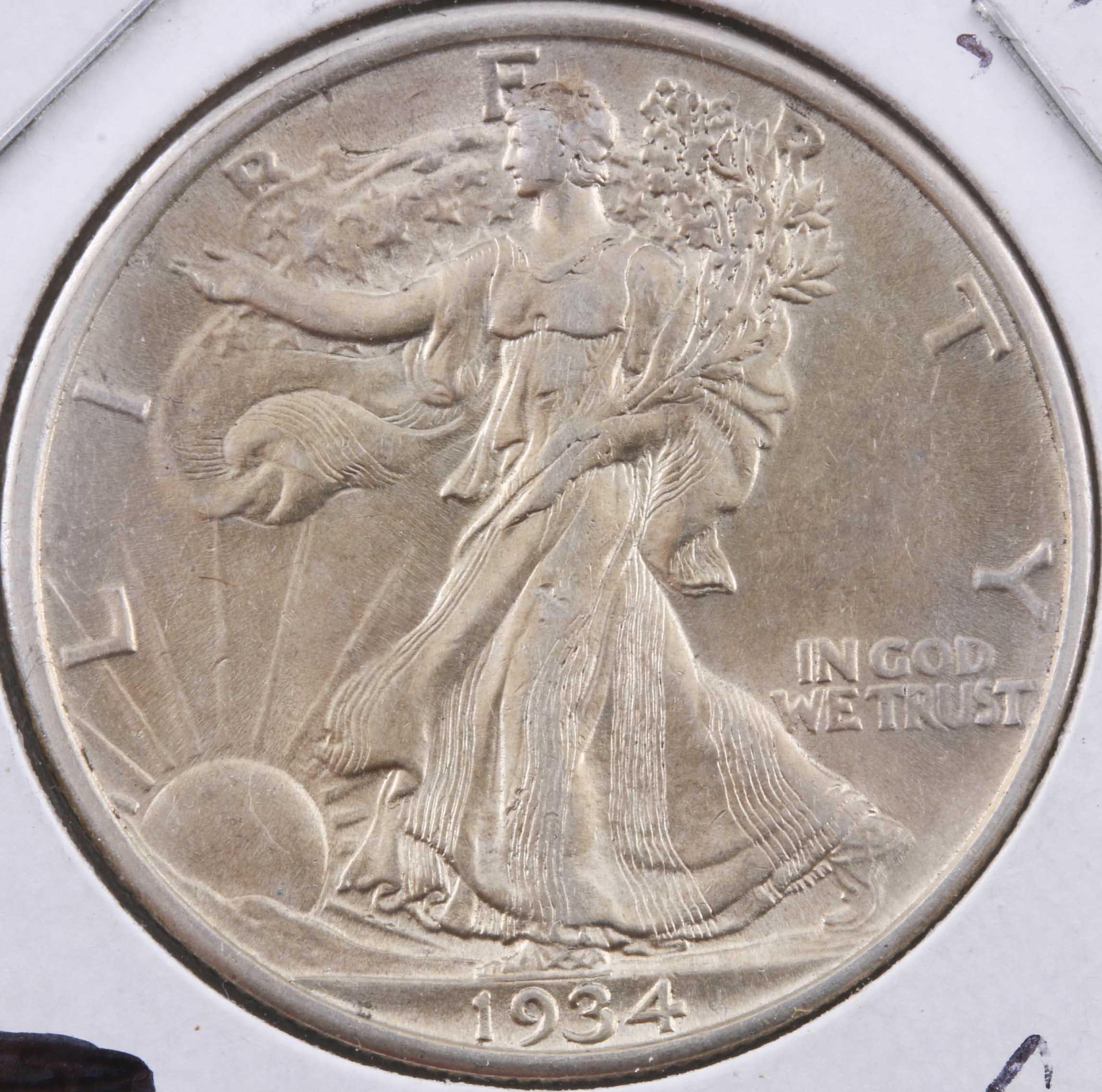 1934 Walking Liberty Silver Half Dollar