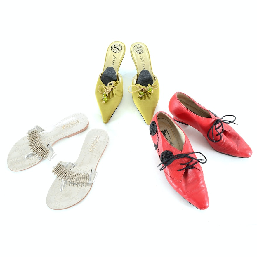 31a74226d Three Pairs of Women s Novelty Shoes   EBTH