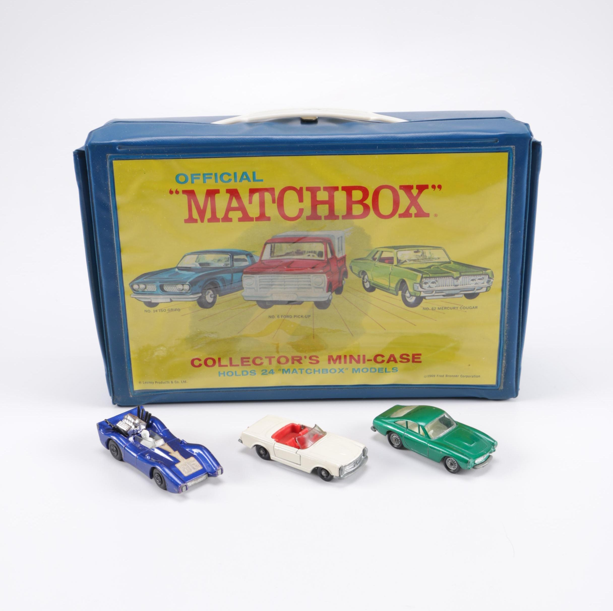 Official Matchbox Collector S Mini Case With Vintage Matchbox Die Cast Cars Ebth