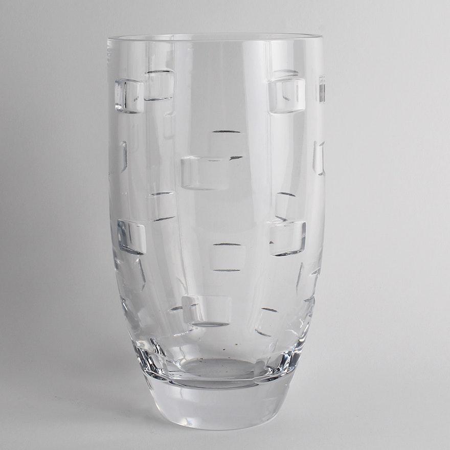 John Rocha For Waterford Crystal Geo Vase Ebth
