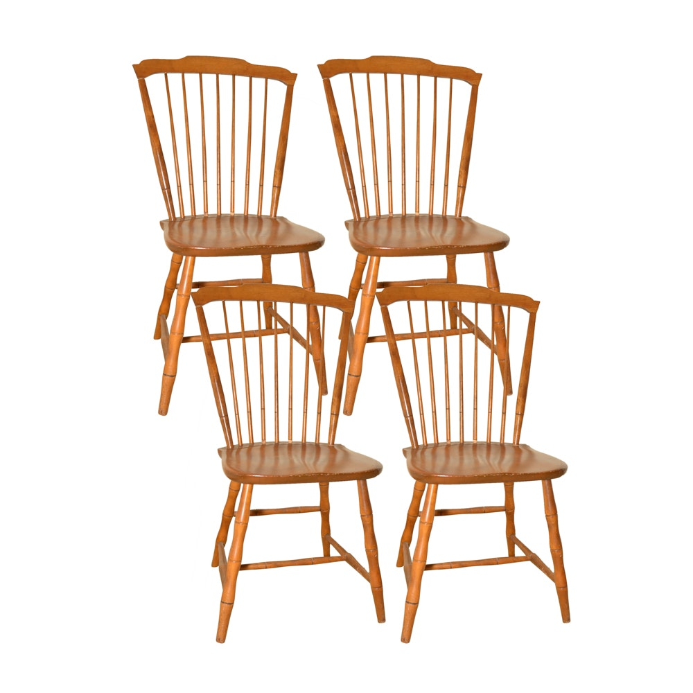 Good Vintage Cherry Windsor Chairs By Nichols U0026 Stone Company ...