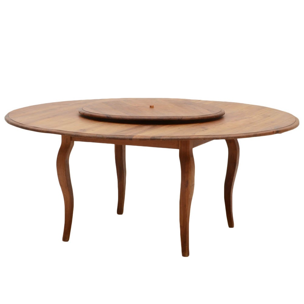 vintage lazy susan dining table