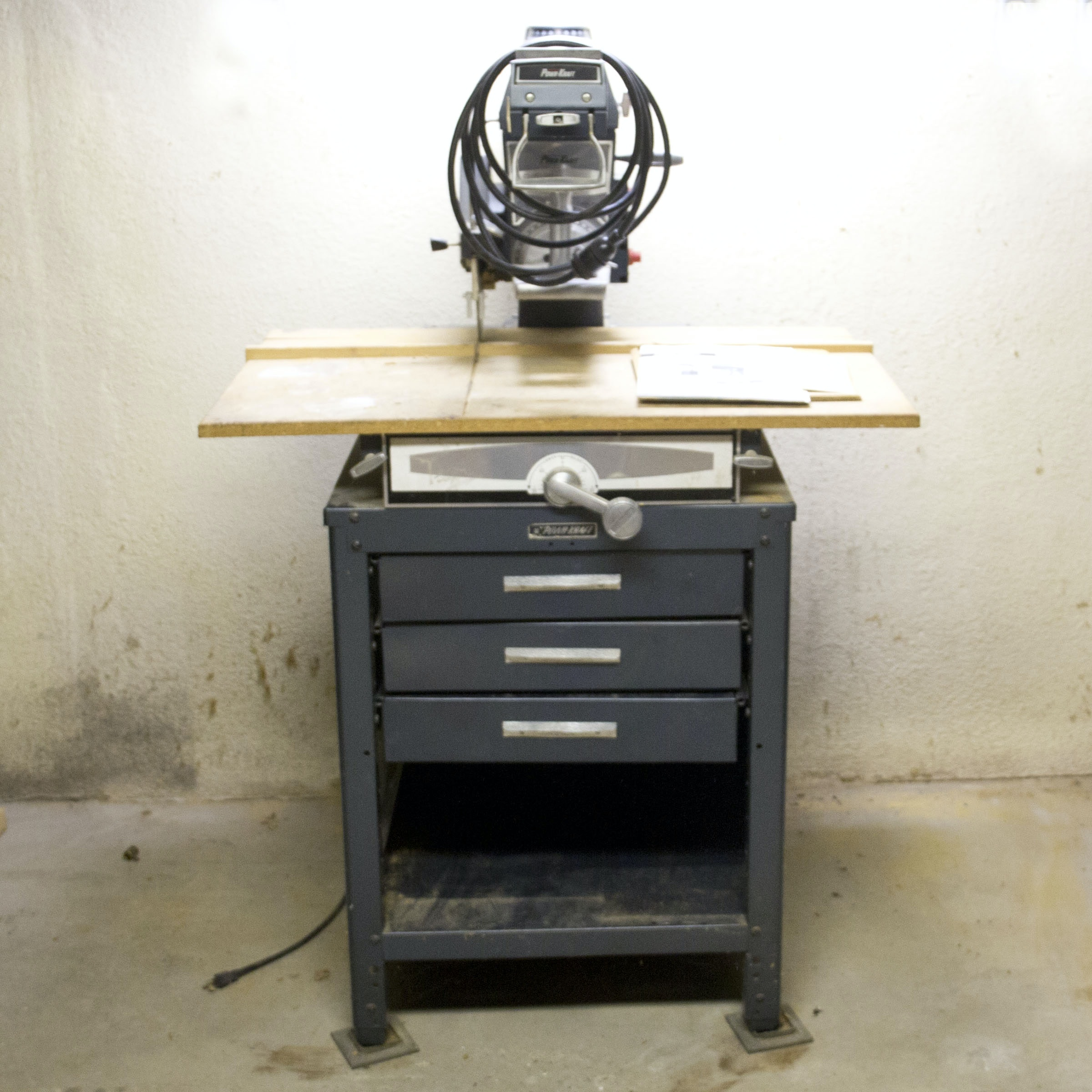 Wards Powr Kraft Radial Arm Saw And Table Cabinet ...