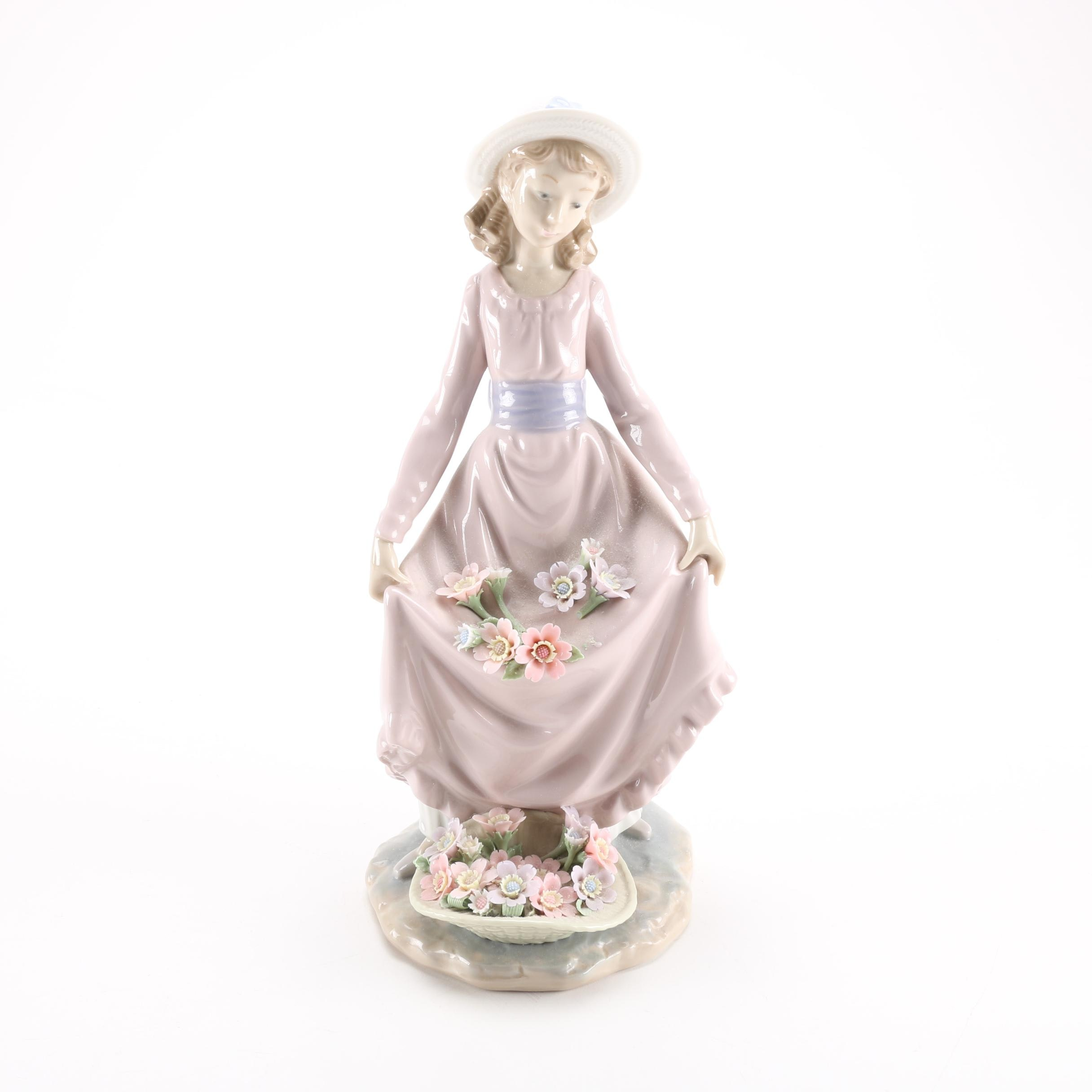 "Integrity Auto Sales >> Lladro ""Flowers in the Basket"" Figurine : EBTH"