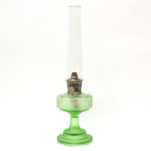 Green Depression Glass Aladdin Oil Lamp ...