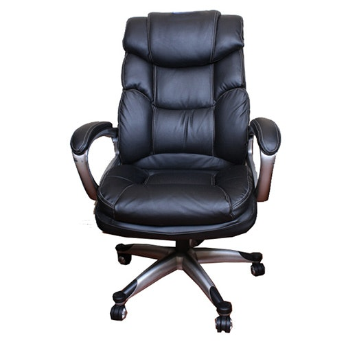 Black Leather Rolling Office Chair ...