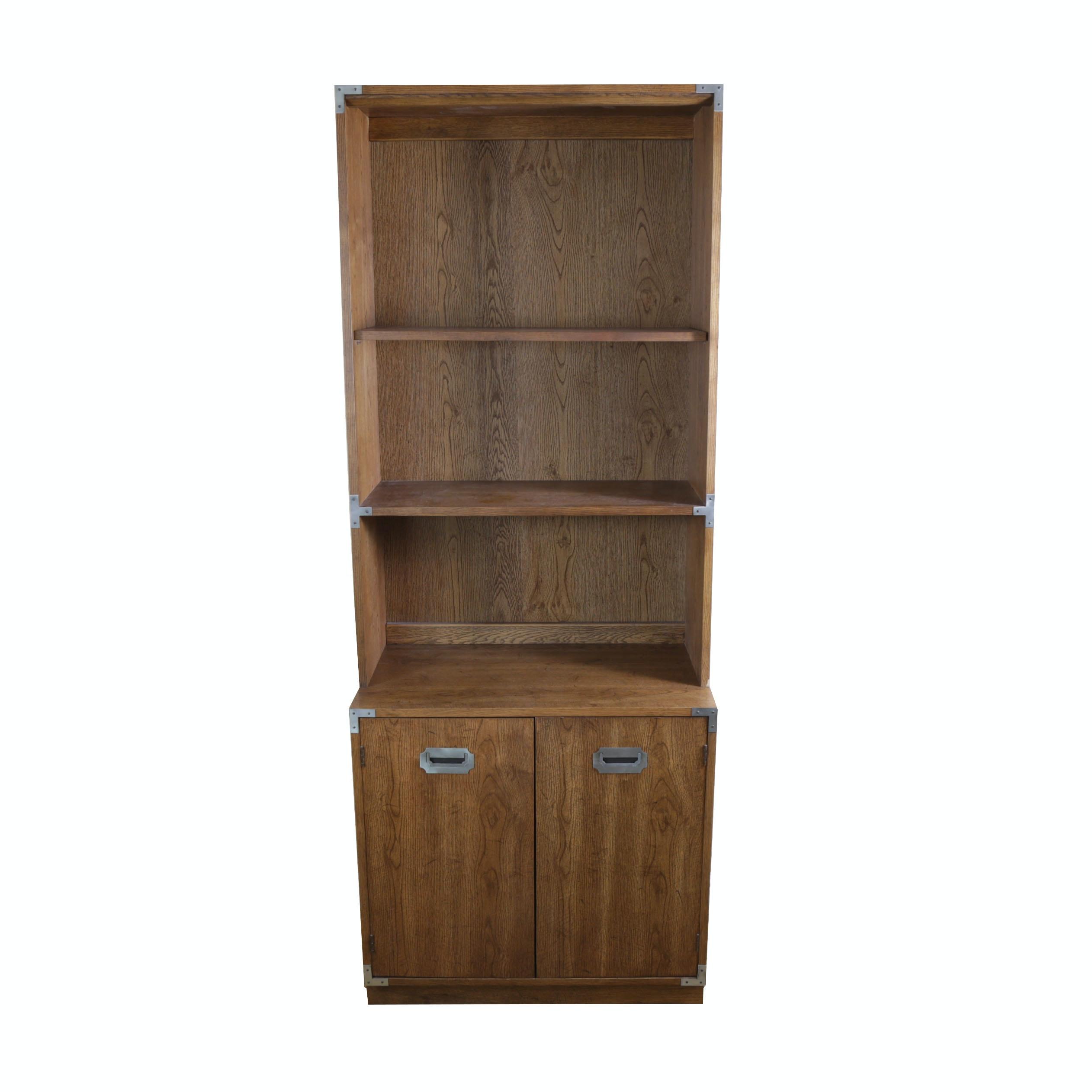 Oak Laminate Cabinet With Bookcase