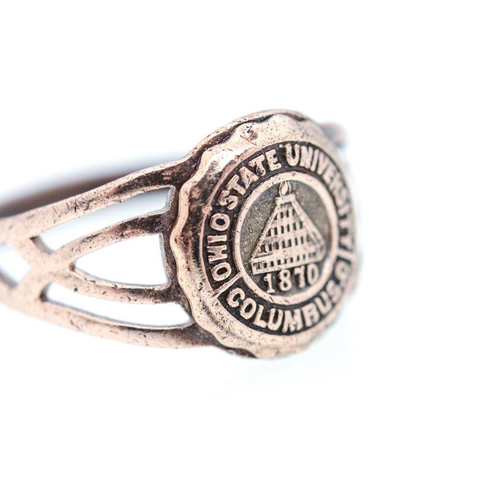 10k Yellow Gold Ohio State University 1870 Class Ring Ebth