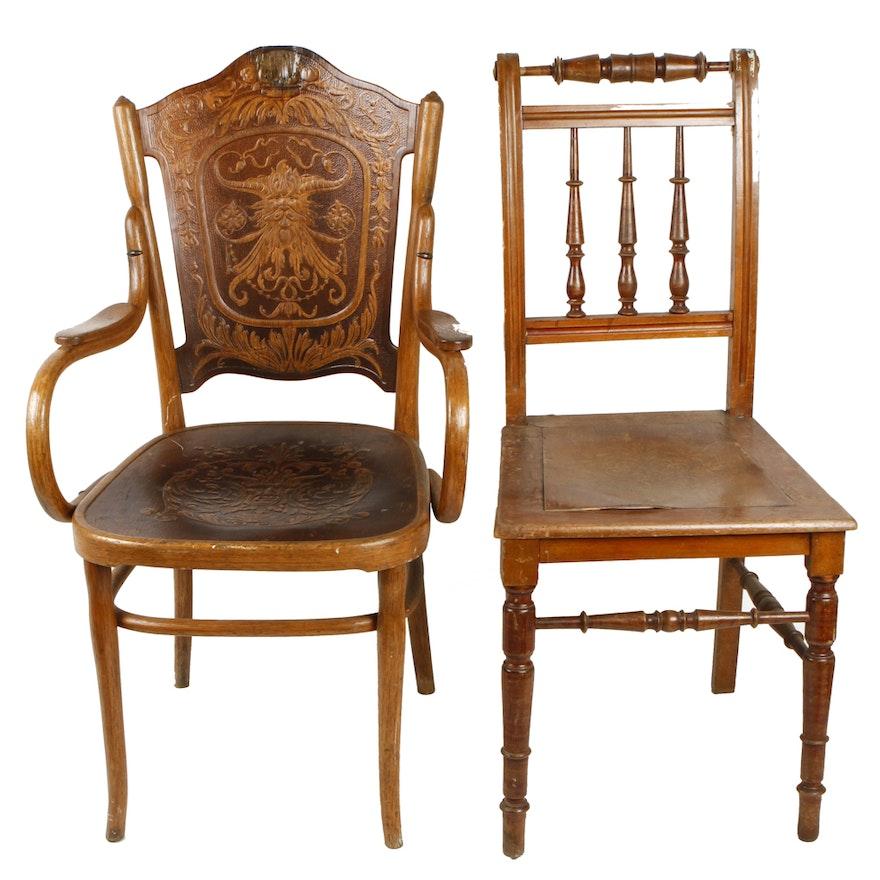 Vintage Jacob Josef Kohn Art Nouveau Style Chairs EBTH