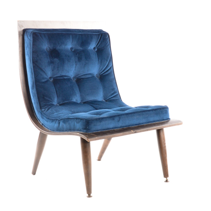 Awesome Mid Century Modern Velvet Scoop Chair Gmtry Best Dining Table And Chair Ideas Images Gmtryco