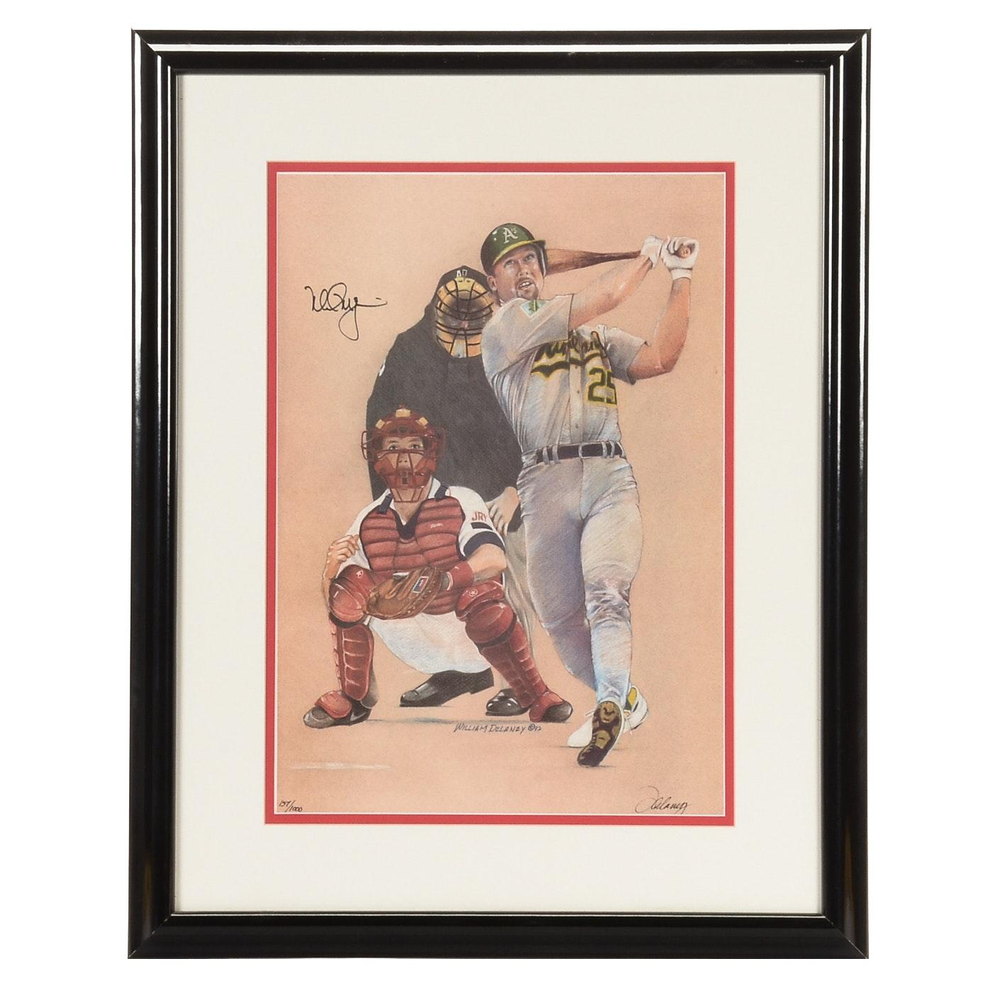 Mark McGwire Signed Framed Baseball Display
