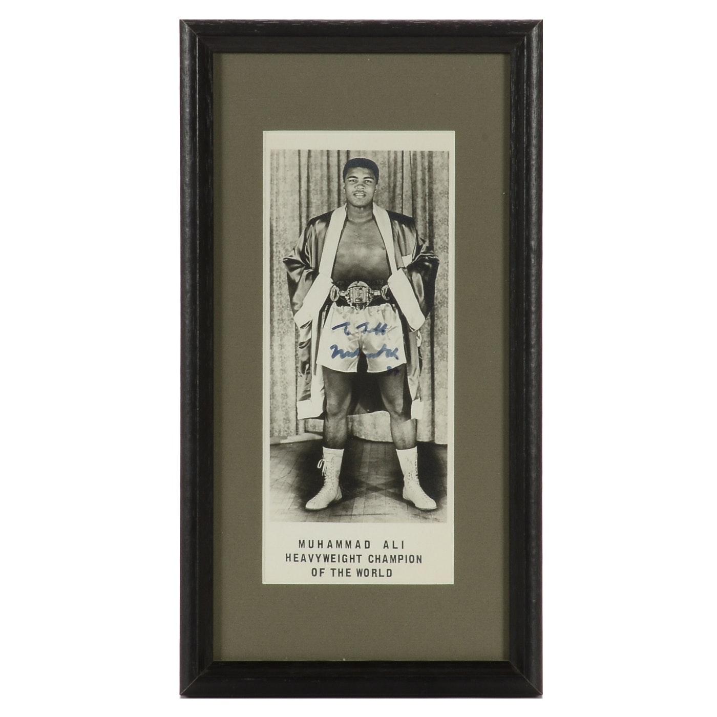 Muhammad Ali Signed Boxing Framed Photo Print